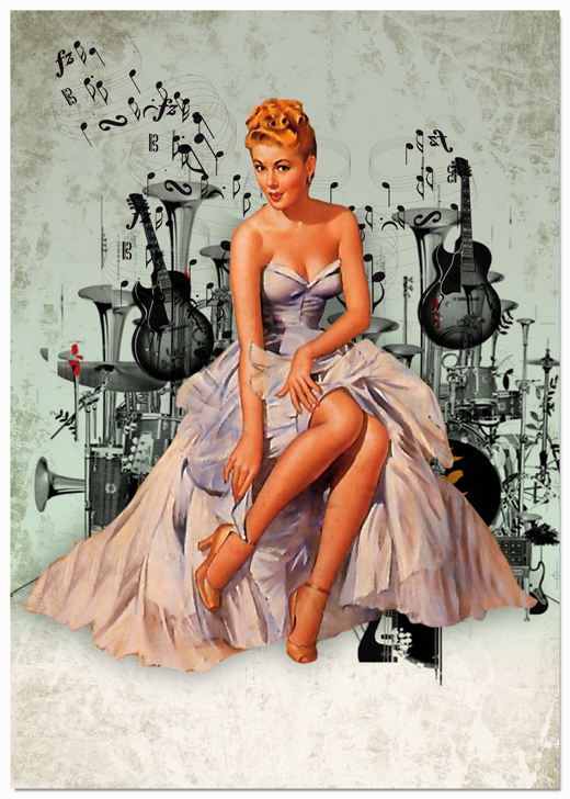 Pin up girl from the 50s to 70s were feature to maintain the look and feel